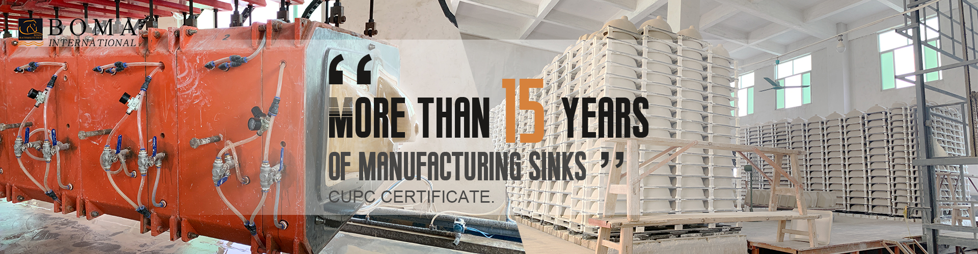More than 15 years of manufacturing sinks